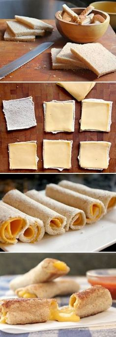 id leave the crust on, but I think the kiddos would love this!