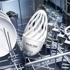 """Studies have proven that 62% of tested home dishwashers harbor mold. The Disinfecting UV-C Dishwasher Light kills up to 99.9% of microbes. Quickly and sustainably. Without chemicals."" YES YOU HAVE BEEN EATING MOLD. It's $31, and it's perfect for the germaphobe in your life"