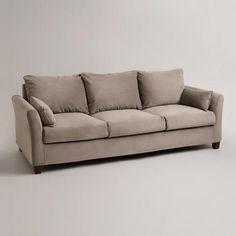 Soft Grey Mink Velvet Luxe Sofa Slipcover World Market