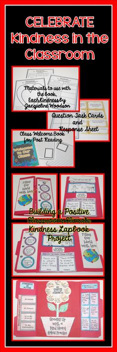 If you love the book, Each Kindness by Jacqueline Woodson and want to emphasize kindness in your classroom, then this bundle is for you. It includes guided reading materials, a class book project, question task cards and response form, AND a lapbook project each of your students will love. Click the image for a detailed look.