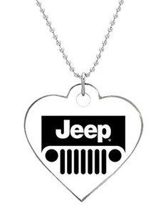 Jeep Logo Custom Personalized Pet Dog Tag Heart Shaped one sides Durable cat tag and Pet Tags for your Dogs * Be sure to check out this awesome product. (Note:Amazon affiliate link)