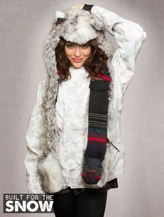What's Your Spirit Animal? ....... SNOW ARCTIC FOX ................. (Faux Fur, Limited Edition) ....... Traits: Cunning > Wise > Adaptable .. Find out more about the #Snow #Arctic #Fox #Spirit #Animal at: https://www.spirithoods.com/adults/womens/mountainarcticfox/1258/# $129 #Gifts #Fashion #SpiritHood #SpiritHoods #Hoodie #FauxFur #Paws #Cargo #Snowboarding #Skiing #Fleece #Limited #Scarf #SpiritHoods #Inneranimal