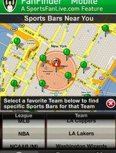 FanFinder locates sports bars with your kind of fans