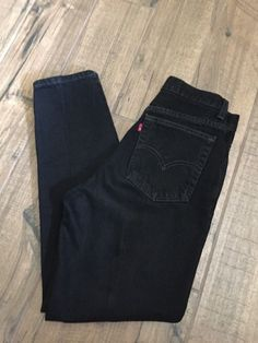 Levi's 512 Womens Sz 8S (28x28) Slim FIt Tapered Leg Black Denim Jeans 8 Short #Levis #512SlimFitTaperedLeg
