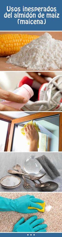 Usos inesperados del almidón de maíz (maicena) #hogar #cocina #limpieza #tips #DIY #maicena