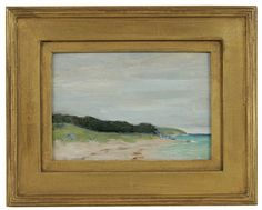 """""""Beach View,"""" Clark Greenwood Vorhees, oil on board, 4 x Hawthorne Fine Art. Paintings I Love, Abstract Paintings, Painting Frames, Landscape Paintings, Landscapes, Awesome Art, Cool Art, Winslow Homer, Painter Artist"""