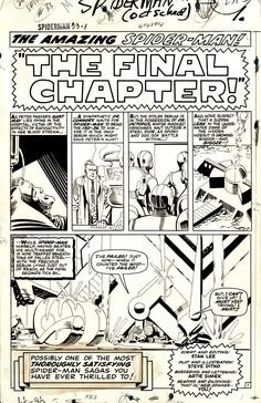 Romitaman Original Comic Book Art :: Private Collection :: Amazing Spider-Man by artist Steve Ditko