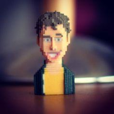 Norman #LEBLOX #PixelArt #3Dprinting #Tribute #normanthavaud #normanfaitdesvideos