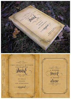 Printable spellbook cover