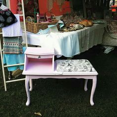 Market stall and Paris phone table by Revamped by Samantha