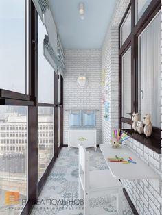 Фото: Интерьер лоджии - Двухуровневая квартира в неоклассическом стиле, ЖК «Жилой дом на Пионерской», 208 кв.м.