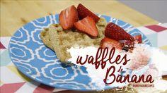 Waffles de Banana - Pure Food Recipes - YouTube