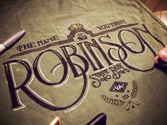 Hand Lettering Projects 2011-2014 by Jason Carne, via Behance