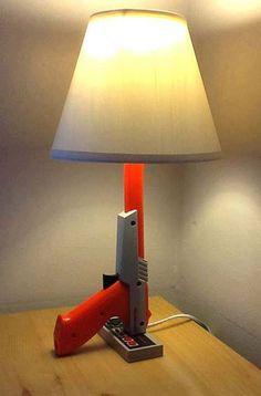 Nintendo Controller Lamp. See More at https://www.facebook.com/iloveoldschoolgames