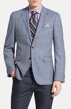 BOSS HUGO BOSS 'Rhett' Extra Trim Fit Check Sportcoat available at #Nordstrom