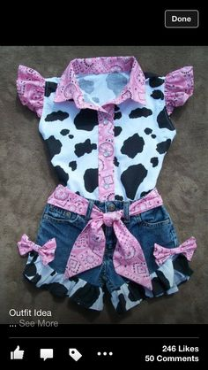 Items similar to Shorts and Blouse Beautiful PINK BANDANA upcycled cowgirl shorts outfit with custom made matching blouse. size - on Etsy Baby Outfits, Cowgirl Outfits, Short Outfits, Kids Outfits, Toddler Cowgirl Outfit, Cowgirl Birthday Outfits, Cow Birthday Parties, 2nd Birthday, Rodeo Birthday