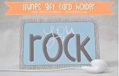 teacher appreciation gift - itunes gift card with free printable holder from theteachermama.com