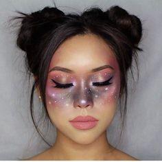 Looking for for ideas for your Halloween make-up? Browse around this site for cute Halloween makeup looks. Makeup Clown, Eye Makeup, Hair Makeup, Unicorn Makeup, Bride Makeup, Face Makeup Art, Pixie Makeup, Contouring Makeup, Witch Makeup