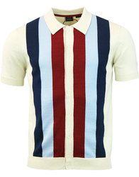 Upton MERC 60s Mod Stripe Panel Polo Cardigan in cream: http://www.atomretro.com/26193 #merc #merclondon #uptonpolo #poloshirt #polocardigan #knittedpolo #mod #modfashion #atomretro #mensstyle #mensfashion