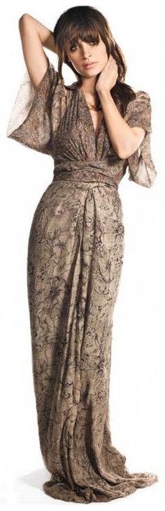 Nicole Richie Winter Kate Silk Kimono Dress