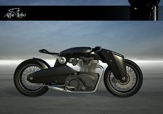 Alfa Lobo- motorcycle project for my master's degree. Inspired by British bikes from 40',50',60', and 70'. Balanced connection between retro style and modern technologies was most important for the final effect.