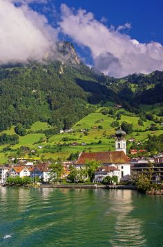 Gersau, Switzerland -- Sang with US Honor Choir 1973 in this lovely Baroque church Wonderful Places, Beautiful Places, Places Around The World, Around The Worlds, River Cruises In Europe, Switzerland Vacation, What A Beautiful World, Seen, Great View