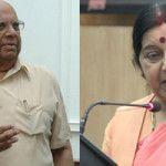"Somnath Chatterjee calls Sushma Swaraj's act of helping Lalit Modi an ""embarrassment"""