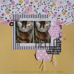 Hello Love - Pink Paislee - Bella Rouge Collection - 12 x 12 Double Sided Paper - Bloom http://www.scrapbook.com/gallery/image/layout/5312357.html#5ywTUWSOdWi0vKaS.99