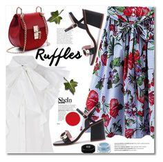 Add Some Flair: Ruffled Tops by svijetlana on Polyvore featuring moda, Givenchy, Balmain, shein and ruffledtops