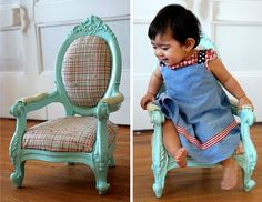 Mini-chair #DIY #makeover. Only $20!  I really want to find a chair like this.