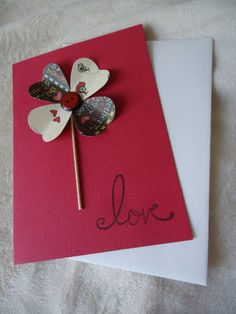 Valentine's Day Blank Card. Handmade Love Card. Card for
