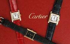 We have a large inventory of Cartier watches at pre-owned prices. Shop Cartier Tank, Panther, Ballon Bleu, Santos and more models all available now. Cartier Watches, Tank Watch, Cartier Tank, Fine Watches, Square Watch, Panther, Best Sellers, 18k Gold, Stainless Steel