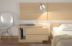A nightstand is a critical bit of furniture that's functional and helps a bedroom feel finished. Despite the fact that a nightstand is a more compact piece of Bedroom Bed Design, Bedroom Furniture Design, Bed Furniture, Home Bedroom, Modern Bedroom, Bedroom Decor, Bedroom Storage, Bedrooms, Side Tables Bedroom