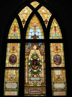 First Baptist Church stained glass window