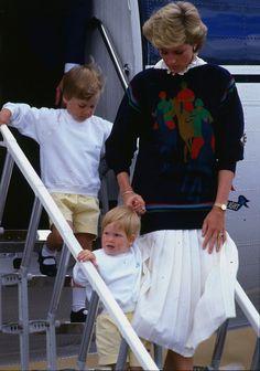 Diana, William & Harry, 1986
