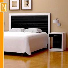 Respaldo de cama pintado y tapizado muebles reciclados - Respaldos para camas ...