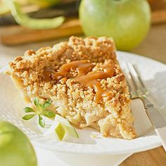 Caramel-Apple Pie. This recipe took first place two years in a row at the Applejack Festival's pie-baking contest in Nebraska City, Nebraska. The pie is easier to eat than a caramel apple, but tastes just as good!