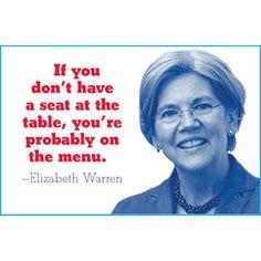 Menu Elizabeth Warren Magnet