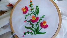 Hand Embroidery: Bullion Lazy