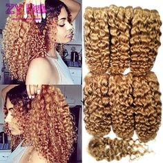 Pervien 곱슬 머리 스타일 짧은 곱슬 머리 꿀 금발 30 Vigem Peruvien 곱슬 머리 폐쇄 Cabelo Humano