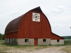 First barn quilt on the Timberland Quilt Trail in Oscoda County Michigan.  The barn was built in 1947.