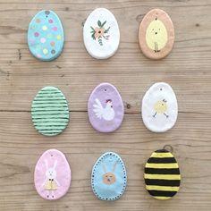 Deko Ideen für die Figuren aus Salzteig zu Ostern