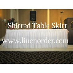 Custom Shirred Table Skirts By Premier®: Our Custom Shirred Table Skirting  Offers The Classic