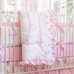 Royal Ballet Crib Comforter with Ruffle #carouseldesigns