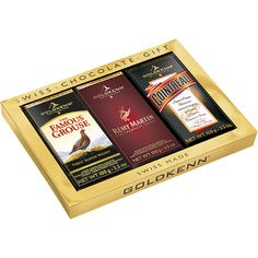 Goldkenn Scotch Viskili Çikolata, Remy Martin Şampanya ve Cointreau Likörlü Çikolatalar Şık Hediye Çikolata Kutusunda.
