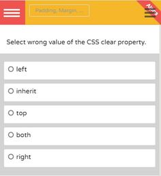 #htmlcss what is the right answer? #javascript #programmers #developers #css #css3 #jquery #html #html5 #application #web #android #education #learnprogramming #quizful #quizful_com #java #oop #ood #designpatterns #app #development #objectivec #perl #php #ruby #nodejs #mysql