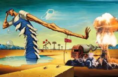 Nuclear Dali Painting No Nukes