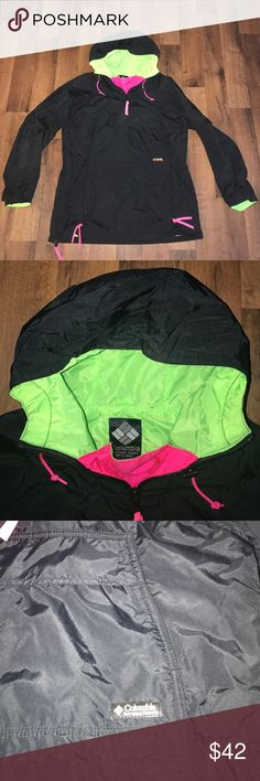 Vintage Medium Columbia Pullover Jacket Black Excellent condition Columbia Jackets & Coats Windbreakers