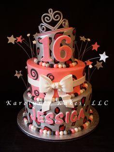 Cakes for teens – birthdaycakeideas Pretty Cakes, Cute Cakes, Beautiful Cakes, Amazing Cakes, Diva Birthday Cakes, Birthday Cake Girls, Birthday Ideas, 16th Birthday, Teen Cakes