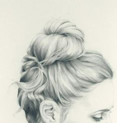 рисунок, ухо, брови, глаза, девушка